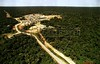 A view of  the Petrobras Urucu oil well in the Amazon. (Douglas Engle/Australfoto)