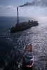 Petrobras' P-43 Platform ship in the Campos Basin, of the Atlantic Ocean, off the coast of Rio de Janeiro, June 1, 2006. (Douglas Engle/Australfoto)