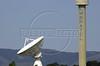 An antenna of the WorldCom-owned Embratel looms over trees in Tambau, near Rio de Janeiro.(Douglas Engle/Australfoto)