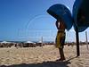 A beachgoer make a call from a public telephone on Ipanema beach in Rio de Janeiro. (Douglas Engle/Australfoto)