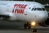 A TAM Airlines jet at the Salvador airport. (Australfoto/Douglas Engle)