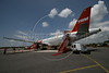 A TAM Airlines jet at the Manaus airport, Sept. 7, 2005.(Australfoto/Douglas Engle)