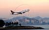 A Varig Airlines jet takes off from Santos Dumont airport in Rio de Janeiro International Airport, Rio de Janeiro, Brazil, June 8, 2008. (Austral Foto/Renzo Gostoli)