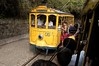 Passengers ride the Santa Tereza Tram (Bonde) in Rio de Janeiro, Brazil. With origins dating from 1872, the two lines of the tram are all that is left of what was once an extensive streetcar system in Rio de Janeiro.. It runs from downtown Rio de Janeiro to the mountainous neighborhood of Santa Tereza, formerly an aristocratic area and now experiencing a bohemian regeneration. the tram has become a symbol of the neighborhood and one of the mandatory tourist stops in Rio.(Australfoto/Douglas Engle)