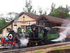 "The historic ""Maria Fumaa"" train puffs along upon departure from Tiradentes, in the Brazilian state of Minas Gerais. The train, billed as the only active one in the world on 76cm guage track, uses a Baldwin locomotive and has made the 12km run between Tiradentes and Sao Joao del Rei, two historic cities non stop since 1881.(Australfoto/Douglas Engle)(Australfoto/Douglas Engle)"