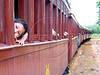 "A boy awaits departure of the historic ""Maria Fumaa"" train from Tiradentes, in the Brazilian state of Minas Gerais. The train, billed as the only active one in the world on 76cm guage track, uses a Baldwin locomotive and has made the 12km run between Tiradentes and Sao Joao del Rei, two historic cities non stop since 1881.(Australfoto/Douglas Engle)(Australfoto/Douglas Engle)"