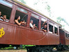 """Passengers ride the historic """"Maria Fumaa"""" train upon departure from Tiradentes, in the Brazilian state of Minas Gerais. The train, billed as the only active one in the world on 76cm guage track, uses a Baldwin locomotive and has made the 12km run between Tiradentes and Sao Joao del Rei, two historic cities non stop since 1881.(Australfoto/Douglas Engle)(Australfoto/Douglas Engle)"""