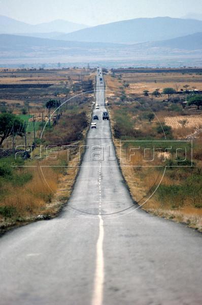 A typical highway scene in northern Mexico, near Monterrey, Nuevo Leon state. (Australfoto/Douglas Engle)