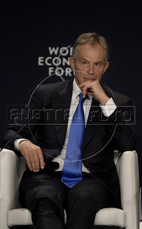 Former U.K. prime minister Tony Blair attends a sport television debate during the World Economic Forum on Latin America, Rio de Janeiro, Brazil, April 29, 2011. (Austral Foto/Renzo Gostoli)
