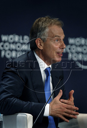 Former British Prime Minister Tony Blair attends a sport television debate during the World Economic Forum on Latin America, Rio de Janeiro, Brazil, April 29, 2011. (Austral Foto/Renzo Gostoli)
