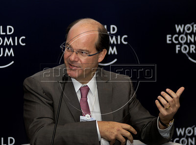 Frederico Fleury Curado, Embraer president and Chief Executive Officer, participates at World Economic Forum, Rio de Janeiro, Brazil, April 28, 2011. (Austral Foto/Renzo Gostoli)