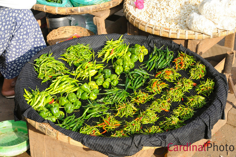 Fresh Green Vegetables on sale at the Wholesale Produce Market in Mandalay, Myanmar (Burma), Southeast Asia