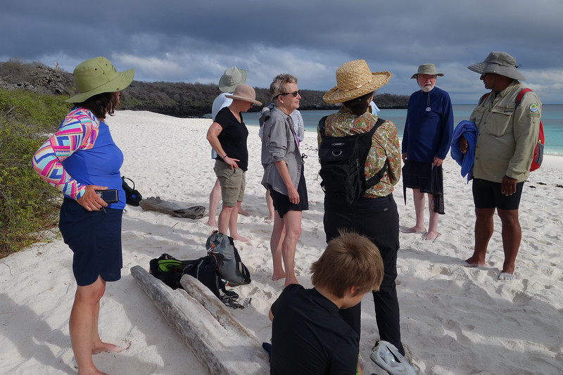 Group on beach at Gardner Bay