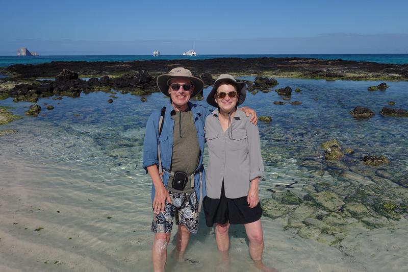 Ken and Bev at Cerro Brujo Beach