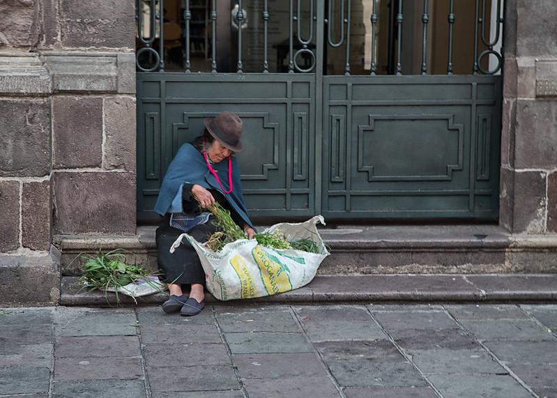 Herb vendor, Quito