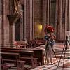Becky shooting in basilica, Quito
