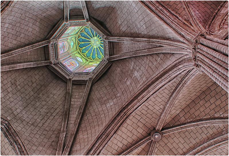 Basilica ceiling, Quito