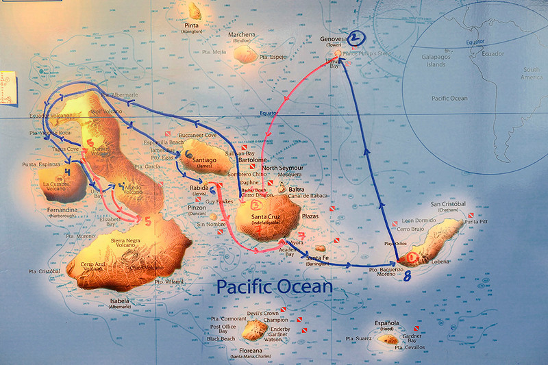 Galapagos route