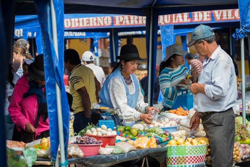 Saturday food market, Vilcabamba, Ecuador