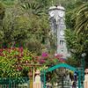 Central park and clock tower, Banos, Ecuador.