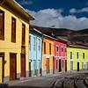 Train tracks and colorful houses, Alausi, Ecuador
