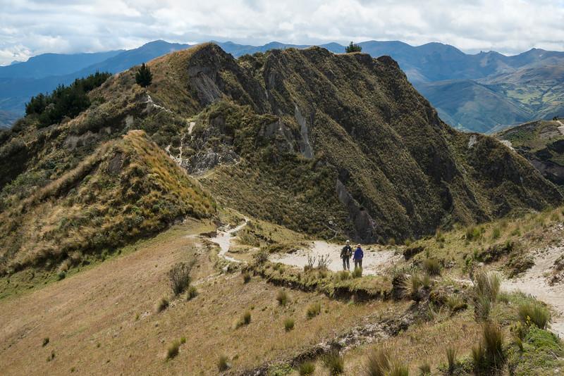 Hiking the Quilotoa Loop, Ecuador.