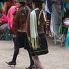 Young indigenous women wearing high heels, Zumbahua, Ecuador