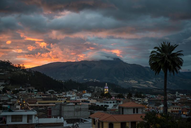 Otavalo, Ecuador with Cotacachi volcano