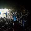 Hiking through lava Tube