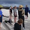 Group on beach at Gardner Bay