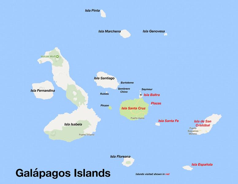 Galápagos Islands Map