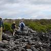 Rough hiking path on Española Island