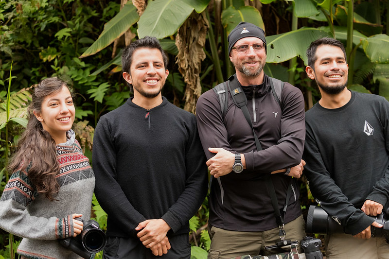 Los Jefes--Lucas Bustamante (of Tropical Herping), Greg Basco (of Fotoverde), Frank Pichardo (Lucas' assistant), and on the far left Rossana Romo (Lucas' delightful girlfriend)
