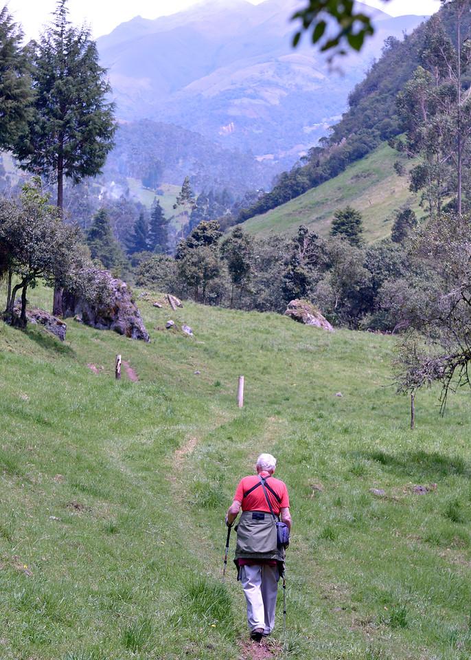 3/8/16 - Mike hiking.