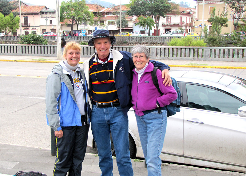 6/23/15 - Getting ready to head out for our hike.  Here I am with both Debi and David Billings.