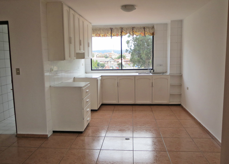1-15-15 - This is obviously the kitchen.  In an unfurnished apartment, NOTHING is furnished; no stove, refrigerator, washer or dryer.