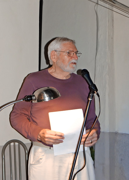 1/28/16 - Mike has become quite active in the writing community here. They have a monthly event called, The Spoken Word where different local authors read parts of their work. Mike read this evening.