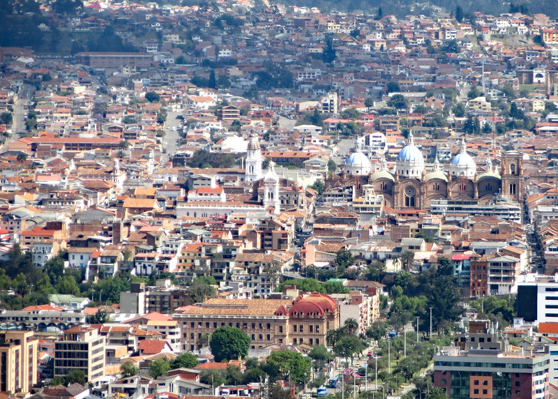 11/19/15 - We made it and were rewarded with this beautiful view of Cuenca and the blue domes of the new cathedral.