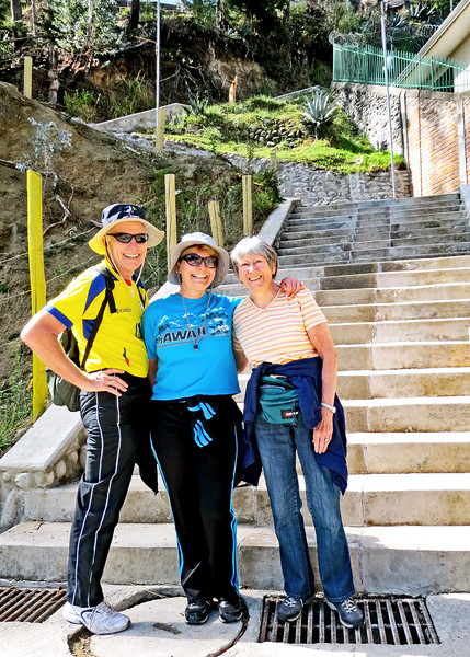 11/19/15 - David, Debi and me at the start of the stairs.
