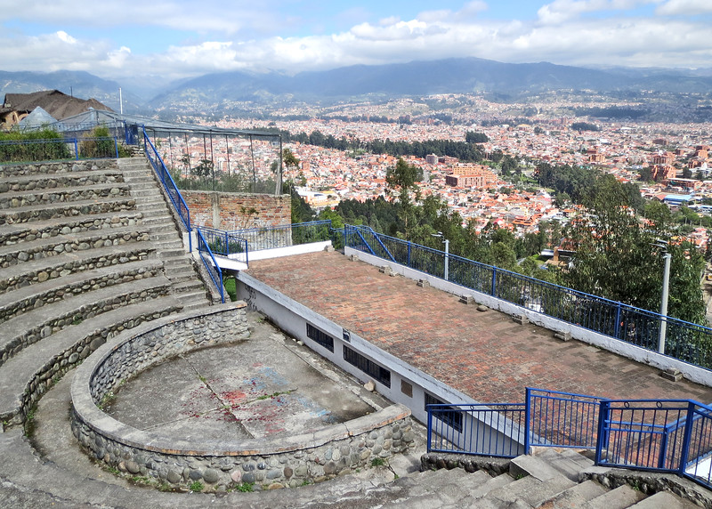 11/19/15 - Almost to the top.  This is an amphitheater just below the top with a beautiful view of Cuenca.