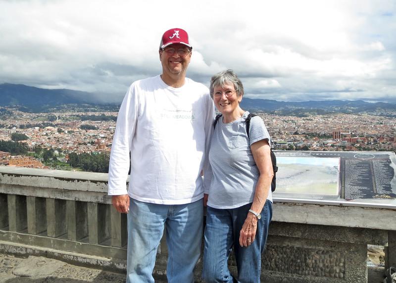 12/1/15 - Climbing the stairs to Turi with Jim and Kara Shea. Jim and Susan at the top.