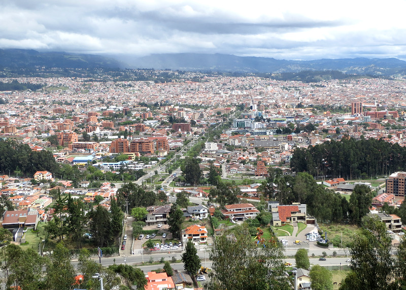 12/1/15 - Climbing the stairs to Turi with Jim and Kara Shea. View of Cuenca from top.