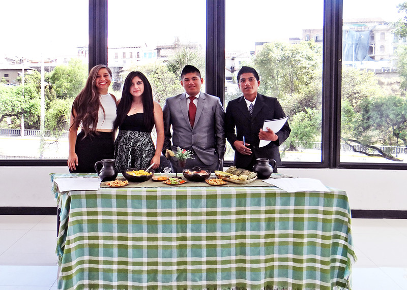 1/8/16 - Our friend, Pame, on the left in the black and white dress, and her team at their presentation.