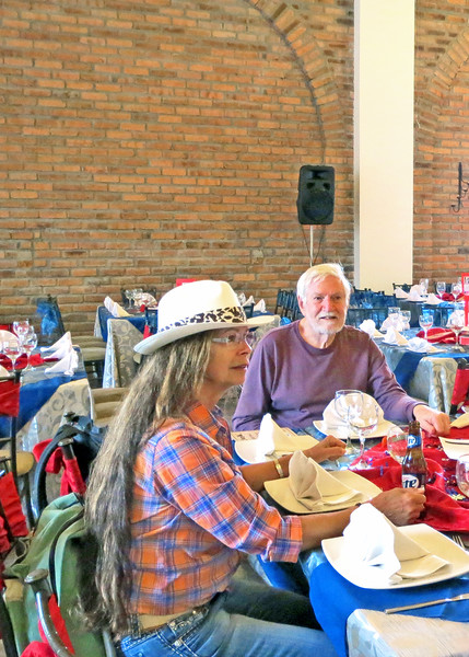 "7/4/15 - The 4th of July BBQ fundraiser for Hearts of Gold Foundation was held at ""Ecuadorian Dude Ranch"" Caballo Campana.  Becky and Mike."