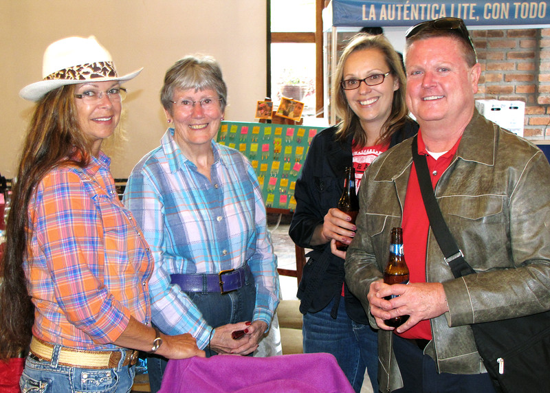 "7/4/15 - The 4th of July BBQ fundraiser for Hearts of Gold Foundation was held at ""Ecuadorian Dude Ranch"" Caballo Campana.  Becky and Susan with Rick and his friend."