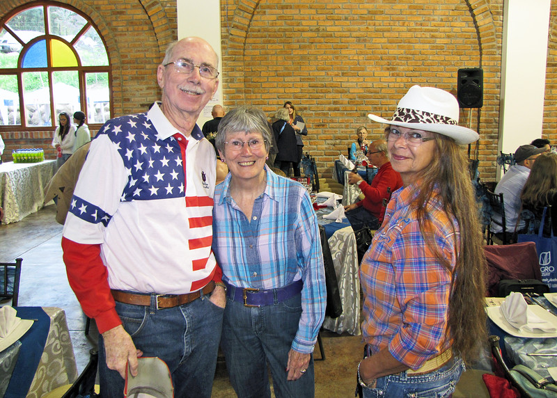 "7/4/15 - The 4th of July BBQ fundraiser for Hearts of Gold Foundation was held at ""Ecuadorian Dude Ranch"" Caballo Campana.  Loren, Susan and Becky."