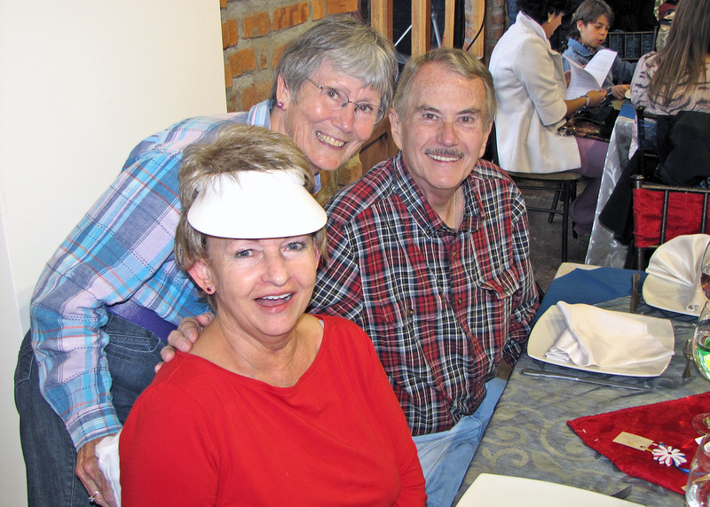 "7/4/15 - The 4th of July BBQ fundraiser for Hearts of Gold Foundation was held at ""Ecuadorian Dude Ranch"" Caballo Campana.  Lynn, Susan and Harry."