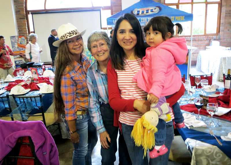 "7/4/15 - The 4th of July BBQ fundraiser for Hearts of Gold Foundation was held at ""Ecuadorian Dude Ranch"" Caballo Campana.  Becky, Susan and Roxi with her daughter."