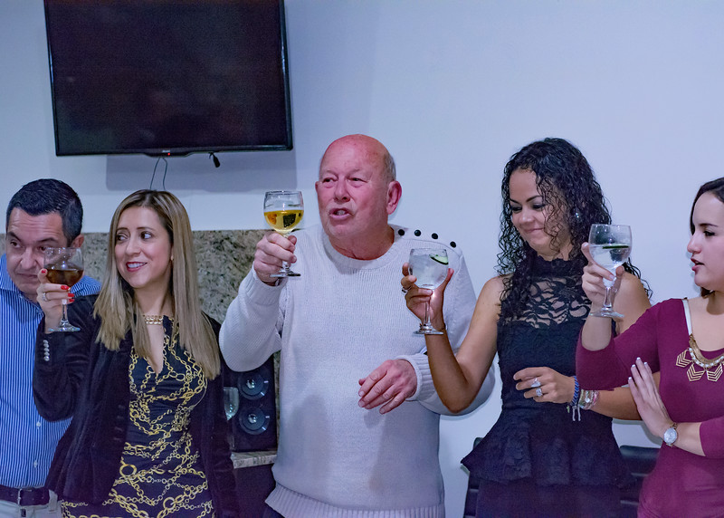 9/22/16 - Cuenca Expats Magazine's 1st Anniversary Party. Ed and Maite toasting the first year.