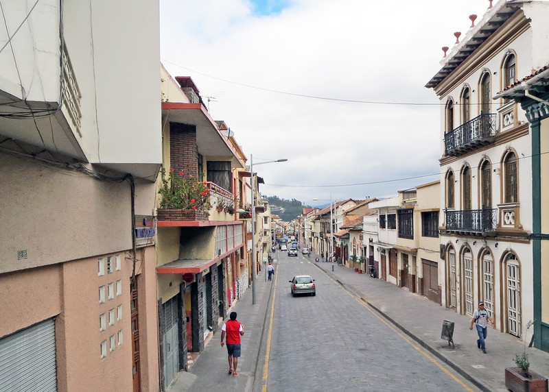 We took a bus tour of Cuenca today.   One of the streets in el Centro.